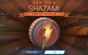 Rocket League Shazam Wheels